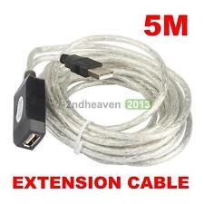UN3F New 16FT 5M active USB 2.0 Extension Cable Repeater pour PC portable Ordina