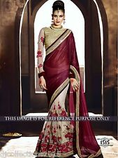 Designer Wear Glitter Pallu with Net Skirt Saree