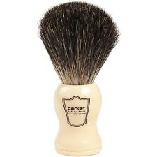 Parker Safety Razor 100% Black Badger Shaving Brush with Ivory Handle & Stand