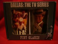 Set of 2 16-Ounce Pint Glasses Dallas The TV Series - NEW
