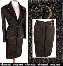 71 Claudia Strater 14 eu 42 Stunning Tweed Winter skirt jacket suit brown wool