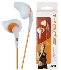 JVC HAEN10 WHITE Gumy Sports In Ear Headphones Sweat Proof Original / Brand New