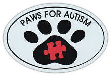 Oval Car Magnet - Paws For Autism - Dog Walk/Run Support Event - Bumper Sticker