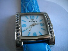 Mint  Lucien Piccard Mid- Size Gemstone Bezel Watch with Box