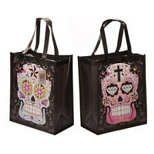 Day of the Dead Mexican Candy Skull womens ladies shopping Bag Reusable Tote
