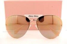 Brand New Miu Miu Sunglasses MU 53P 53PS ZVN2D2 Gold/Pink Gold Mirror Women
