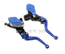 Universal Motorcycle Master Cylinder Reservoir Hydraulic Brake Clutch Lever PAIR
