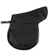 Black Waffle Perforated Non-Slip Breathable English Saddle Pad Easy to Clean!