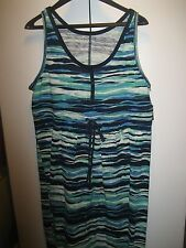 Eddie Bauer  Maxi Dress Sleeveless Cotton XL  X Large NWT Multi Color