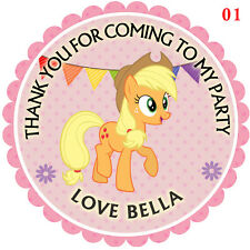 Personalised My little pony 50mm x15 Stickers Party Thank You Seals