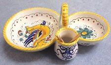 Deruta Pottery-Olive+pitt+toothpick Hold raffaellesco-made/painted by hand-Italy