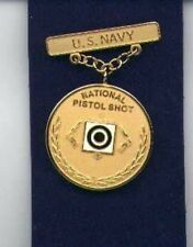 US Navy National Pistol Shot Shooting badge in gold