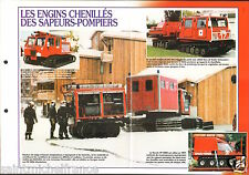 Fire engine Engins Chenillés le Poncin VP 3000 VRTT FICHE Pompier FIREFIGHTER