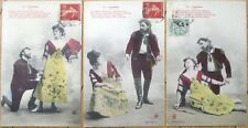 THREE 1907 Bergeret French Fantasy Postcards: Carmen - Opera
