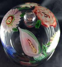 Royal Danube Handpainted Crystal Covered Small Dish Flowers Mini Cake Plate