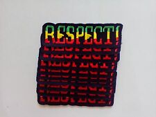 "10 RASTA RESPECT! Embroidered Patches 1.5"" x 4.5"""