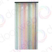 Wooden BEADED DOOR CURTAIN Bamboo Beads Colour Rainbow Pattern String Fly Screen
