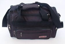 Small 15x9x8 Tote Travel Duffle Gym Bag Carry-On 5 compartments Black NEW