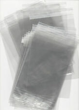 100 x C6 CELLO BAGS 120MM X 162MM WITH 25MM LIP - Free P&P