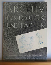 Archives for Printing 1958 Journal in German & English Many Articles on Printing