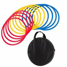 Trademark Innovations Speed and Agility Training Rings with Carrycase Set of 12,