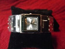 Gossip Clear Plastic Woman's Cuff Quartz Watch Lot Box