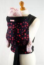 Palm & étang Mei Tai écharpe porte-bébé 100% Coton - Stars Noir Rouge