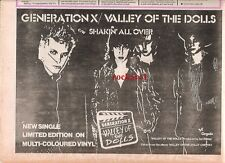 BILLY IDOL / Generation X Valley of The Dolls 1979 UK Press ADVERT 12x8""