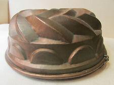 ancien grand moule a gateau kouglof en cuivre epoque 19 eme