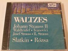 JOHANN STRAUSS II Waltzes; Waldteufel, Slatkin, Rozsa 1995 Seraphim ~ SEALED NEW