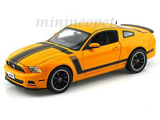 COLLECTIBLES 451 2013 FORD MUSTANG BOSS 302 1/18 ORANGE YELLOW w BLACK STRIPES
