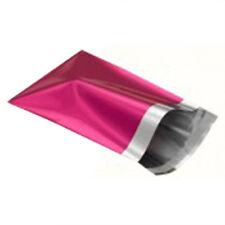 """25 Metallic Pink 14""""x16"""" Mailing Postage Postal Bags"""