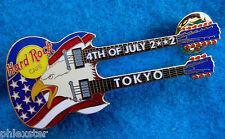 TOKYO JAPANESE 4TH JULY GIBSON AMERICAN EAGLE FLAG GUITAR 02 Hard Rock Cafe PIN