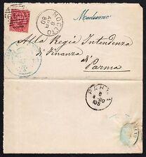 STORIA POSTALE Regno 1880 Piego da Medesano Noceto per Parma (FB9)