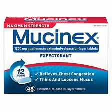 Mucinex Expectorant Maximum Strength 48 ct Guaifenesin Extended Release Tablets