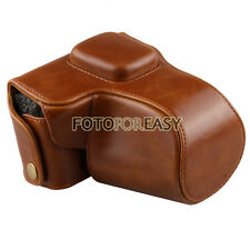 Leather Camera Case Bag+Strap For Olympus PEN E-PL3 EPL3 EPM1 E-PM1 14-42mm lens