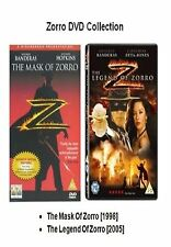 THE MASK OF ZORRO / LEGEND OF ZORRO DVD PART 1 + 2 DVD Movie Film New Sealed UK