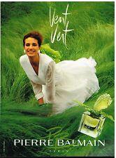 Publicité Advertising 1990 Parfum Vent Vert de Pierre Balmain