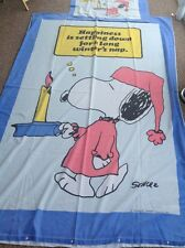"""1958 Vintage Snoopy Duvet Bedding Set Pillowcase """"Happiness Is Settling Down.."""""""