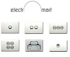 10 X Acrylic Glass Panel Saturn Chrome Light Switch SAA Approved