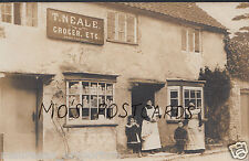 Unknown Location Postcard - Shop History - T.Neale Grocer - Where Please? MB1067