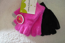 Girl Jumping Beans Gloves 2 Pairs Touchscreen Compatible Pink/Black New Small