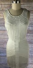 Nasty Gal White Bodycon Bandage Strapless Knit Party Mini Cocktail Dress Size M