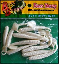 Bass Berry 3 Inch Alien Paddle Tail Jelly Worms Artificial Fishing Bait