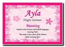 Ayla Personalised Name Meaning Jumbo Magnet