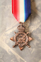 BRITISH COMMONWEALTH ARMY MILITARY WW1 AUGUST NOVEMBER 1914 MONS STAR MEDAL