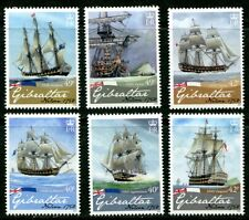 GIBRALTAR 2008 ADMIRAL NELSON SAILING SHIPS MINT COMPLETE SET OF 6 - $10 VALUE!