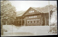 PORTLAND Oregon ~ 1920's LARGEST LOG CABIN IN THE WORLD ! Real photo pc  rppc