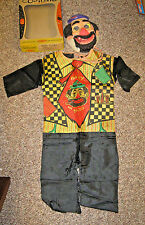 Vintage Ben Cooper Halloween Costume, Mask + Box, Hobo Clown, Fuzzy Hair, Small