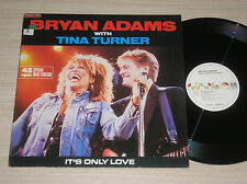 """BRYAN ADAMS with TINA TURNER - IT'S ONLY LOVE - MAXI-SINGLE 12"""" GERMANY"""